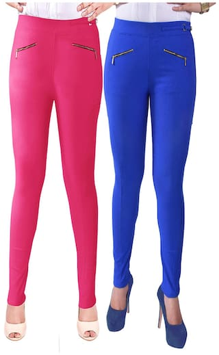iHeart Multi Color Cotton Pack Of 2 Jeggings