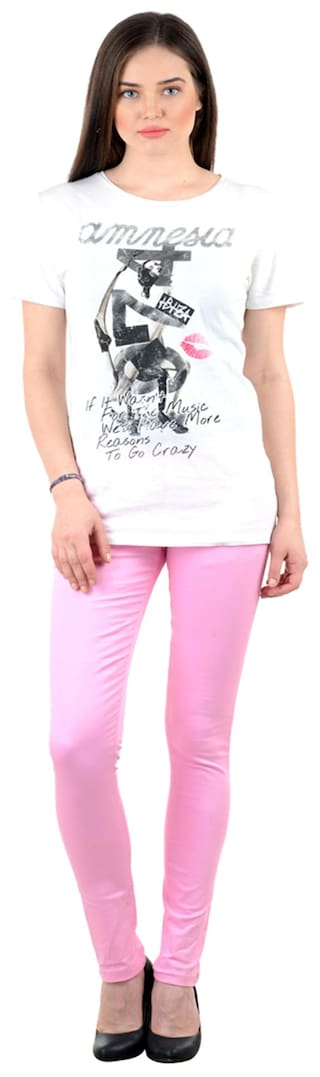 iHeart Casual Trousers of 2 Multi Skinny Pack Fit Cotton 8Epx8zqwr