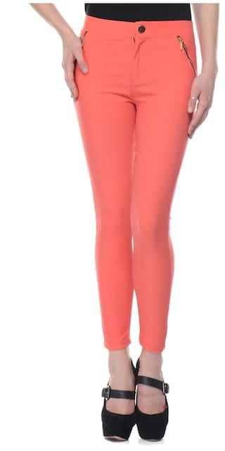 iHeart Orange Lycra Skinny Fit Jegging