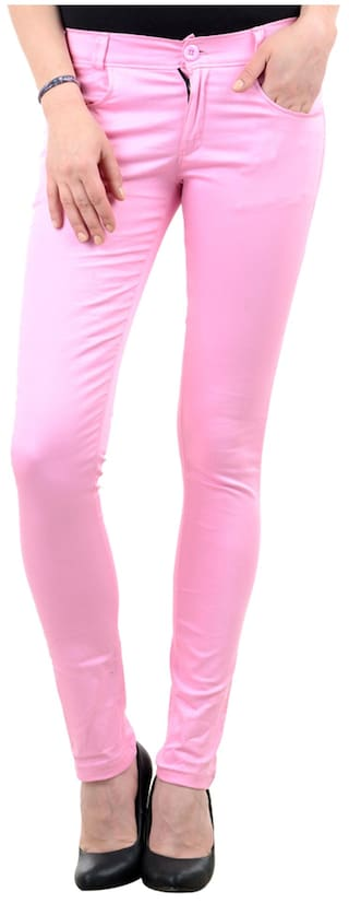 Skinny iHeart Casual Cotton Pink Fit Trouser 1xPqBw