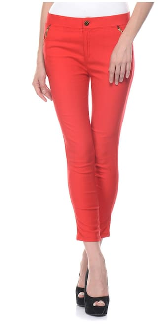 Jegging Skinny Fit iHeart Red Lycra vx61RqwBU0