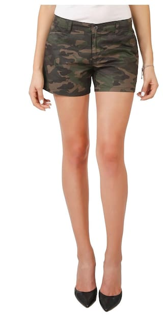 Imagica Camouflage Printed Women's Hot Shorts