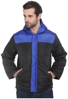 Imagica Men Black Solid Quilted jacket - Black