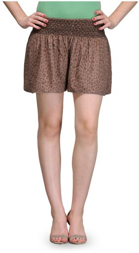 India Inc Beige Rayon Short