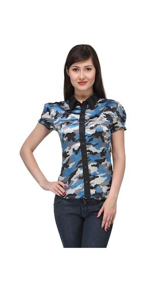 India Inc Blue Satin Shirt