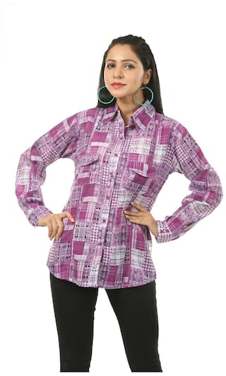 India Shirt Cotton Inc Inc India Purple PvPUrq