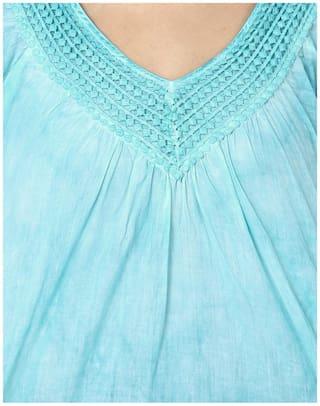 India Top Cotton Turquoise Inc RkPRKqvZ