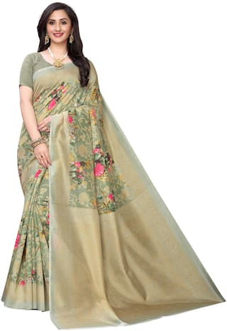 Indian Beauty Floral Silk Multi Designer Saree For Women