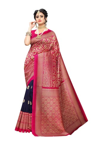 Indian Beauty Silk Woven Regular Saree  For Women Multi
