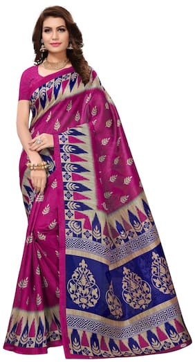Indian Beauty Present Cotton Silk With Blouse Saree