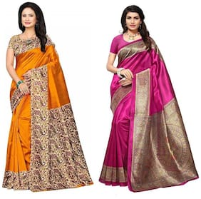 Blended Universal Saree ,Pack Of 2