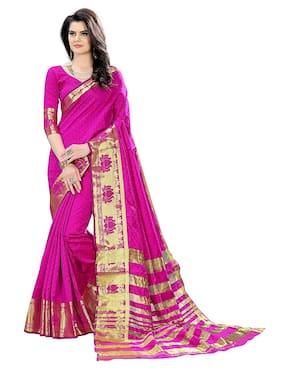 Indian Beauty Silk Universal Tie & Dye Work Saree - Pink