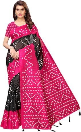 Blended Bandhani Saree