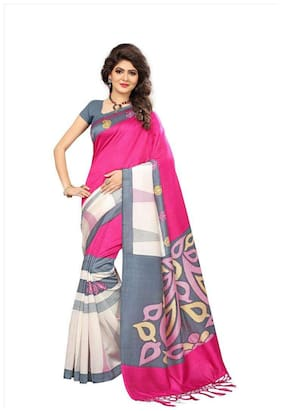 Indian Beauty Women's Pink Color Mysore Silk With Tessals Saree With Blouse Piece