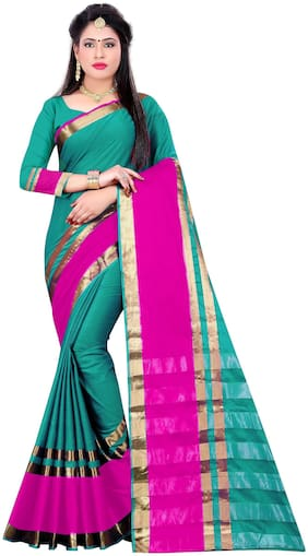 Indian Fashionista Women's Art Silk Saree with Blouse Piece