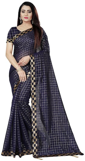 Dupion Silk Chanderi Saree