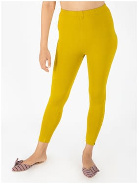 INDIAN FLOWER Premium Viscose Stretchable Ankle Length Leggings for Women