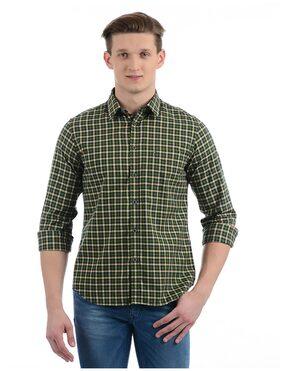 Indian Terrain Men Regular Fit Casual shirt - Green