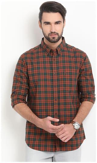 Indian Terrain Men Slim fit Casual shirt - Green