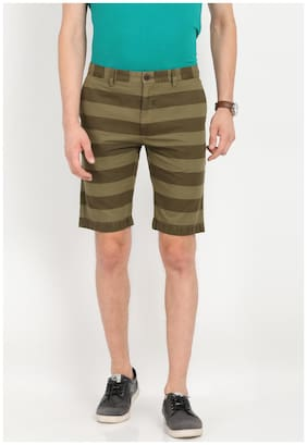 Men Striped Regular Shorts