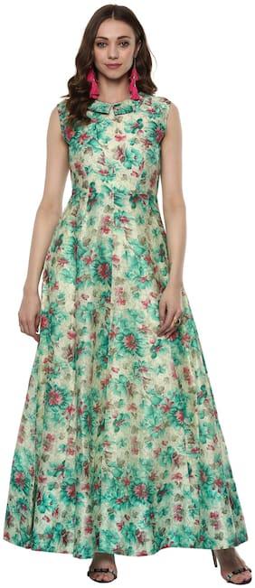 Women Floral Anarkali Kurti Dress