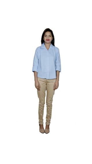 IndiWeaves Women's 2 Cotton Shirt (Pack of 2 Shirts)