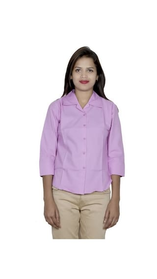 Shirt of 2 Pack 2 Women's Shirts IndiWeaves Cotton gBw1t66q