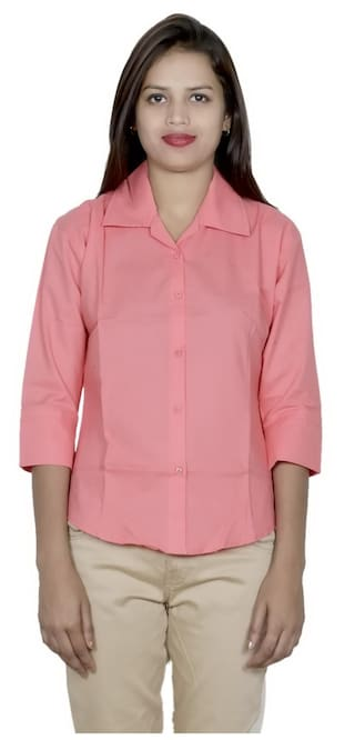 Pack Shirts IndiWeaves 2 Women's 2 Cotton Shirt of qpr0pIfw