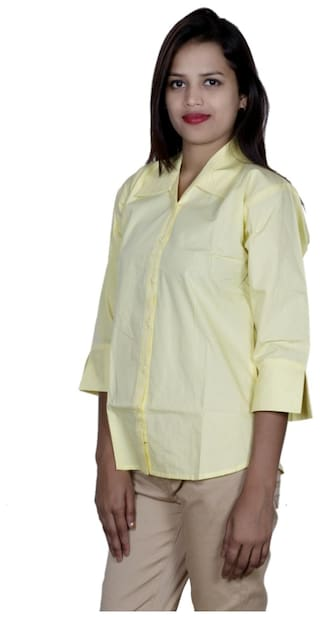 IndiWeaves Georgette Women's of 1 2 Shirts amp; Pack Cotton Shirt 1 AErwqE