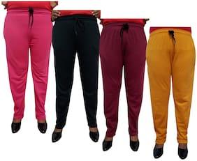 Women Regular Fit Track Pants ,Pack Of 4