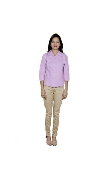 2 of IndiWeaves Women's Shirts Cotton Shirt Pack 2 Bg71nW