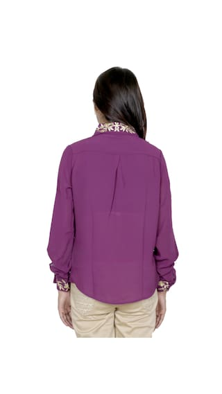 Cotton Georgette Shirts of 1 IndiWeaves Shirt Women's Pack amp; 1 2 qgxcxwSE7X