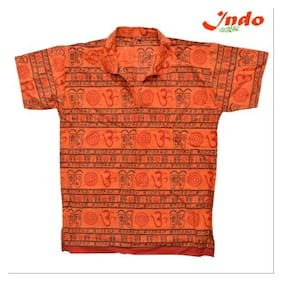 Indo Half Sleeves Kurta With Om Print For Men(Assorted color)