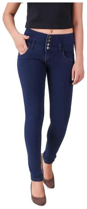 Inispire2Fashion Women Blue Straight fit Jeans