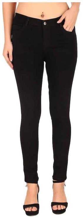 Inispire2Fashion Women Black Slim fit Jeans