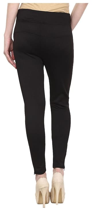Black Inked Cotton Jeggings Lycra Black Inked q8wrdqnR