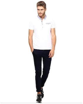 Inspire Blue Slim Casual Chinos