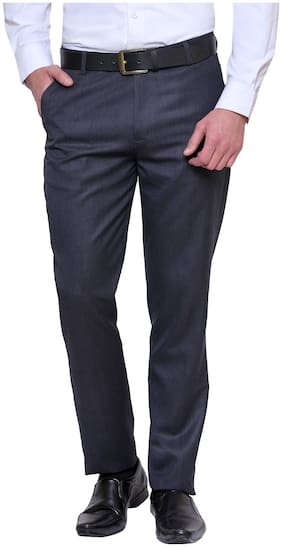 Inspire Prime Blue Slim Fit Formal Trouser