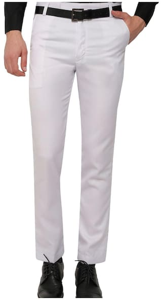 6e6fc530ab1 Buy Inspire White Slim Fit Formal Trouser For Men Online at Low ...