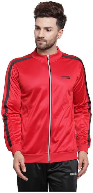 Invincible Men Polyester Jacket - Red