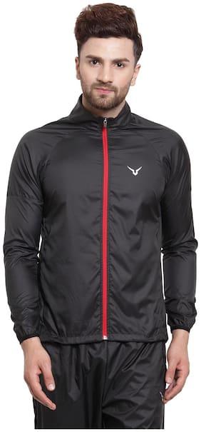 Invincible Men Polyester Jacket - Black