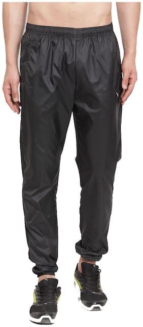 Invincible Men Black Solid Regular fit Track pants