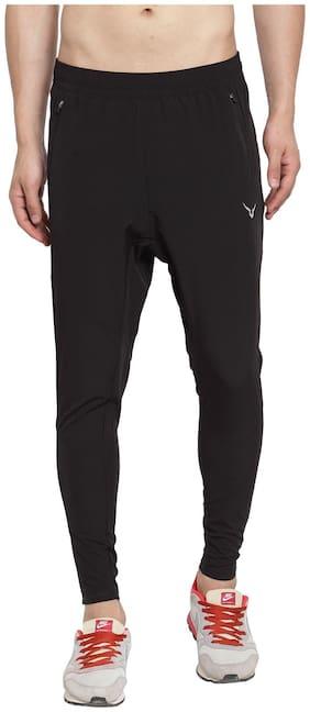 Invincible Men Black Solid Regular fit Joggers
