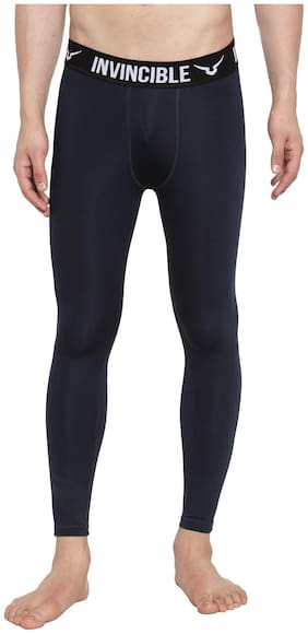 Invincible Polyester Track Pants Navy Blue