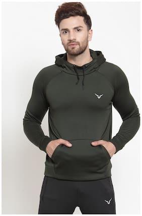 Invincible Men Green Hooded Sweatshirt