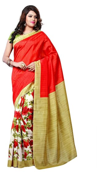a2a151993 Buy ISHIN Art Silk Multicolor Bollywood Printed Women s Saree Online ...