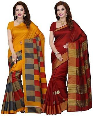 Ishin Multi Universal Regular Saree , With blouse