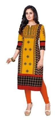 Ishin Cotton Printed Dress Material - Multi