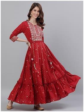 Women Embellished Anarkali Kurta