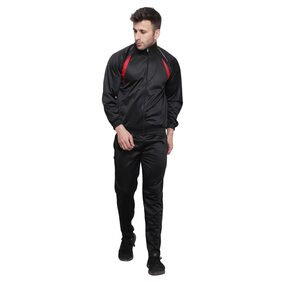 iSHU Men Micro Polyester Track Suit - Black
